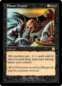 Magic the Gathering Apocalypse Single Card Rare #50 Planar Despair