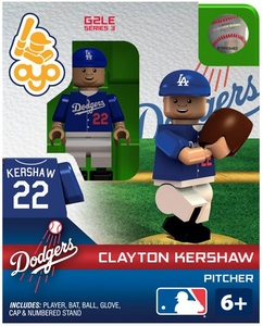 OYO Baseball MLB Generation 2 Building Brick Minifigure Clayton Kershaw [Los Angeles Dodgers]