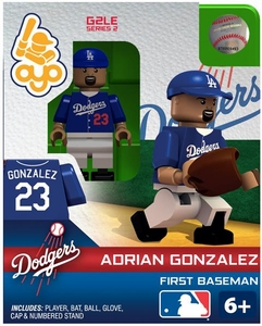 OYO Baseball MLB Generation 2 Building Brick Minifigure Adrian Gonzalez [Los Angeles Dodgers]
