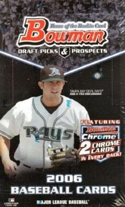 MLB Baseball Cards 2006 Bowman Draft Picks & Prospects Hobby Box