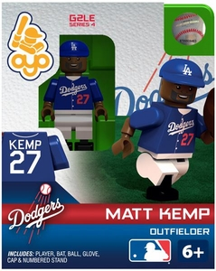 OYO Baseball MLB Generation 2 Building Brick Minifigure Matt Kemp [Los Angeles Dodgers]