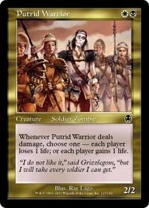 Magic the Gathering Apocalypse Single Card Common #117 Putrid Warrior