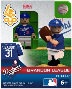 OYO Baseball MLB Generation 2 Building Brick Minifigure Brandon League [Los Angeles Dodgers]