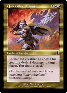 Magic the Gathering Apocalypse Single Card Common #118 Quicksilver Dagger