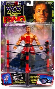 WCW NWO Wrestling Action Figure Ring Fighting Chris Benoit BLOWOUT SALE!