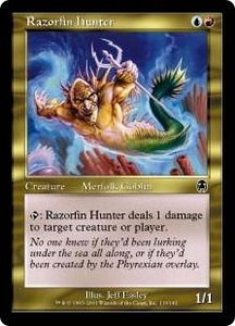 Magic the Gathering Apocalypse Single Card Common #119 Razorfin Hunter