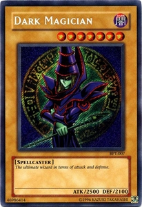 YuGiOh 2003 Collectible Tin Yugi Single Card Secret Rare BPT-007 Dark Magician