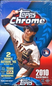 Topps MLB Baseball 2010 Chrome Hobby Box
