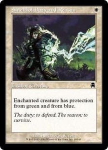 Magic the Gathering Apocalypse Single Card Common #16 Shield of Duty and Reason