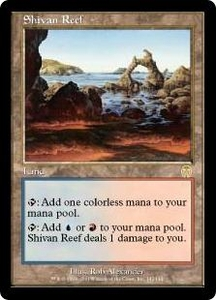 Magic the Gathering Apocalypse Single Card Rare #142 Shivan Reef Mildly Played