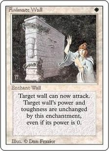Magic the Gathering Revised Edition Single Card Rare Animate Wall