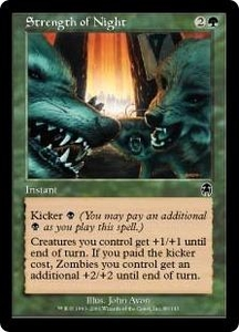 Magic the Gathering Apocalypse Single Card Common #86 Strength of Night