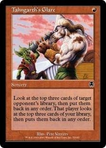 Magic the Gathering Apocalypse Single Card Common #70 Tahngarth's Glare