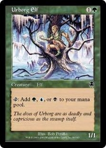 Magic the Gathering Apocalypse Single Card Common #90 Urborg Elf