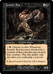 Magic the Gathering Apocalypse Single Card Common #54 Zombie Boa