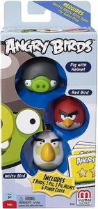 Mattel Angry Birds Mini Figure 3-Pack Pig with Helmet, Red Bird & White Bird