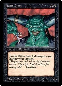 Magic the Gathering Arabian Nights Single Card Rare Juzam Djinn Mildly Played