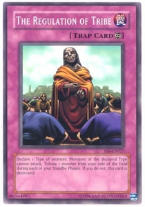 YuGiOh Pharaoh's Servant Single Card Common PSV-027 The Regulation of Tribe