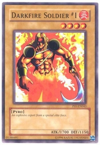 YuGiOh Pharaoh's Servant Single Card Common PSV-043 Darkfire Soldier #1