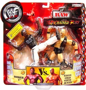 WWE Wrestling Unchained Fury Action Figure 2-Pack Stone Cold Steve Austin Vs. Booker T