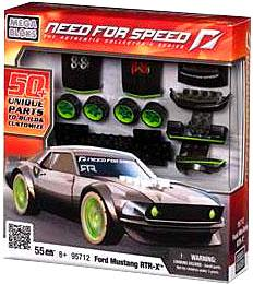 Need For Speed Mega Bloks Set #95712 Ford Mustang RTR X
