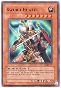 YuGiOh Pharaoh's Servant Single Card Common PSV-077 Sword Hunter