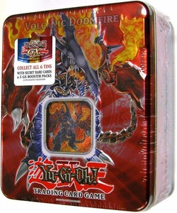 YuGiOh GX 2007 Wave 2 Collector Tin Set Volcanic Doomfire