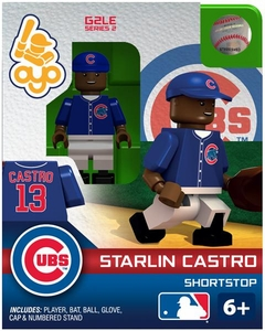 OYO Baseball MLB Generation 2 Building Brick Minifigure Starlin Castro [Chicago Cubs]