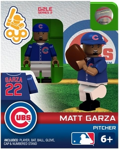 OYO Baseball MLB Generation 2 Building Brick Minifigure Matt Garza [Chicago Cubs]