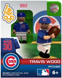 OYO Baseball MLB Generation 2 Building Brick Minifigure Travis Wood [Chicago Cubs]