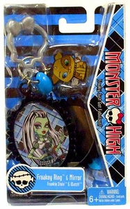 Monster High Freakey Ring & Mirror Frankie Stein & Watzit