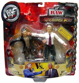 WWE Wrestling Unchained Fury Action Figure 2-Pack Vince McMahon Vs. Ric Flair Damaged Package Mint Contents!