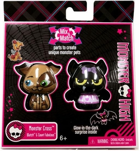 Monster High Monster Cross Mix Match Mini Figure 2-Pack Watzit & Count Fabulous