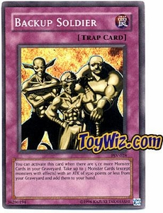 YuGiOh Pharaoh's Servant Single Card Super Rare PSV-028 Backup Soldier
