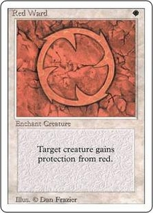 Magic the Gathering Revised Edition Single Card Uncommon Red Ward