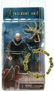 NECA Resident Evil 4 Series 2 Action Figure Black Bald Zealot with Scythe