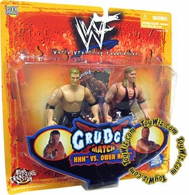 WWE Jakks Pacific Wrestling Action Figures Grudge Match HHH Triple H vs. Owen Hart 2-Pack