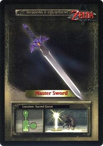 Legend of Zelda Twilight Princess Trading Card #43 Master Sword