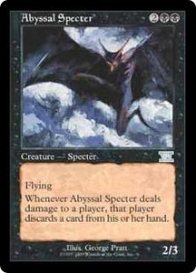 Magic the Gathering Battle Royale Box Set Single Card Uncommon Abyssal Specter