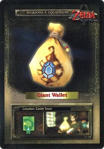 Legend of Zelda Twilight Princess Trading Card #50 Giant Wallet