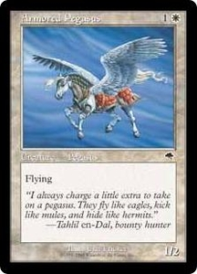 Magic the Gathering Battle Royale Box Set Single Card Common Armored Pegasus