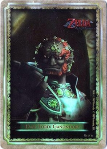 Legend of Zelda Twilight Princess Gold Chase Trading Card 1 of 9 Dark Lord: Ganondorf