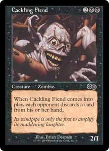 Magic the Gathering Battle Royale Box Set Single Card Common Cackling Fiend