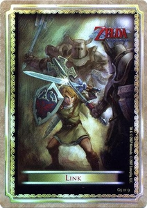 Legend of Zelda Twilight Princess Gold Chase Trading Card 5 of 9 Link