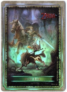 Legend of Zelda Twilight Princess Gold Chase Trading Card 6 of 9 Wolf Link