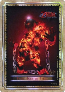 Legend of Zelda Twilight Princess Gold Chase Trading Card 8 of 9 Twilit Igniter: Fyrus
