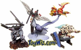 Zoids Fuzors Tomy Multi-Part Interchangable PVC Figures Set of 4 Figures