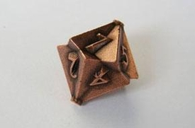 IronDie Single 10-Sided Die D10 Copper Ztark