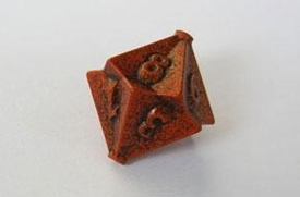 IronDie Single 10-Sided Die D10 Orange Ztark