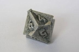 IronDie Single 10-Sided Die D10 White Ztark